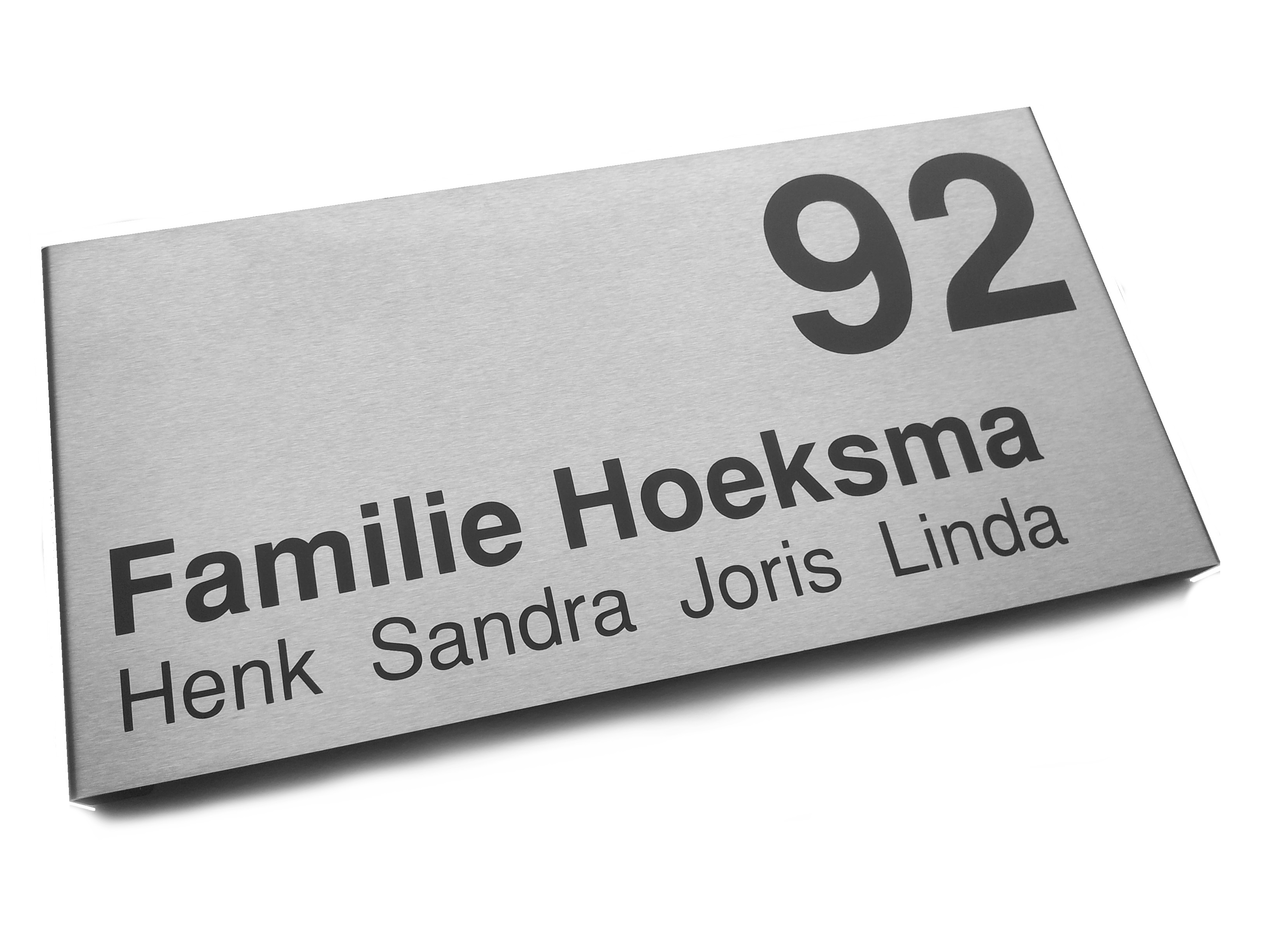 naambord voordeur vlak model