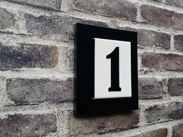 Number2go huisnummerbordje gecoat